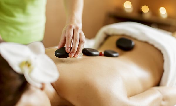 hot stone therapy massage in East Sussex